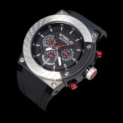 STEELIO® Überspeed Retrograde Chronograph (Steel-Red)