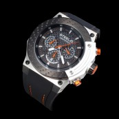 STEELIO® Überspeed Retrograde Chronograph (Black-Orange)