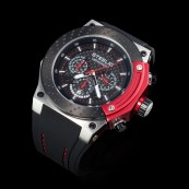 STEELIO®  Überspeed Retrograde Chronograph (Black-Red)