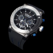 STEELIO® Überspeed Retrograde Chronograph (Steel-Blue)